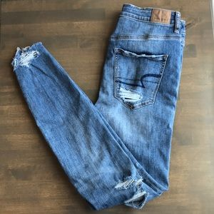 AEO Super Stretch Ripped Skinny Jeans